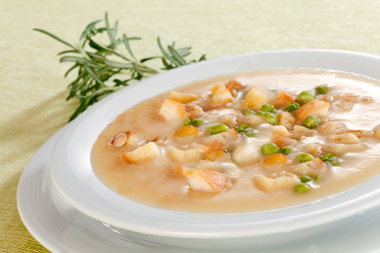 Rosemary and Bacon Pea Soup